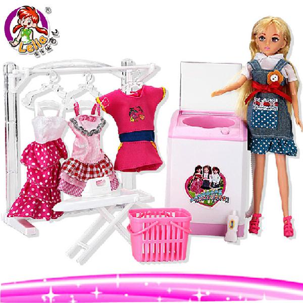 仁达 新款乐吉儿芭比娃娃 家具系l列梦幻洗衣机 礼盒套装rd800080